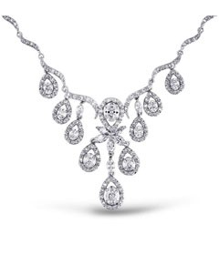 Diamond Stone Jewelry Necklace