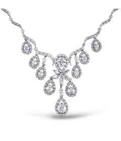 Diamond Stone Jewelry Necklace